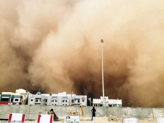 Potężna burza piaskowa na Bliskim Wschodzie -2
