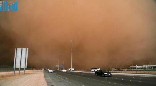 Potężna burza piaskowa na Bliskim Wschodzie -3