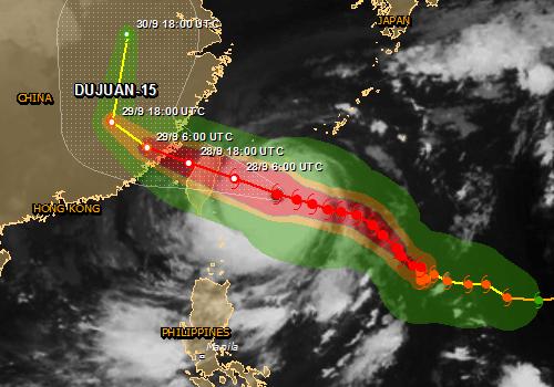 Supertajfun Dujuan kieruje się na Tajwan -2