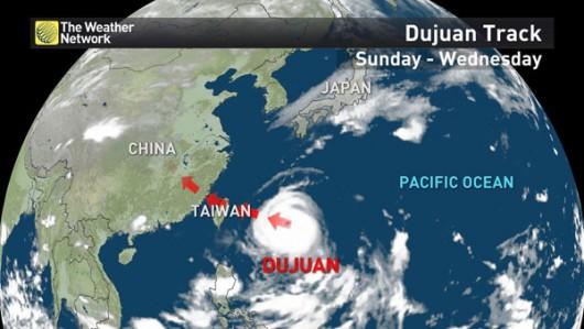 Supertajfun Dujuan kieruje się na Tajwan