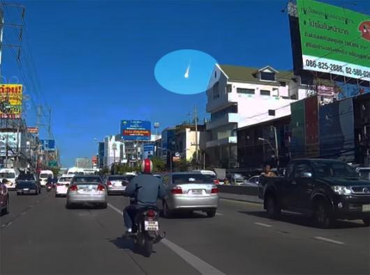 Tajlandia - Duży meteor nad Bangkokiem -2