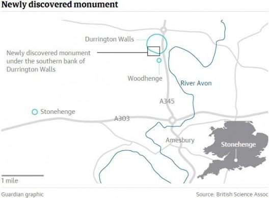 UK - Obok Stonehenge odkryto pod ziemią rząd olbrzymich neolitycznych głazów sprzed czterech i pół tysiąca lat