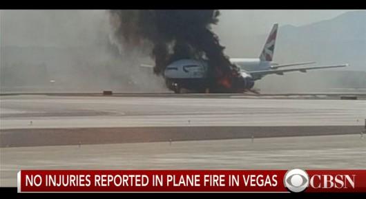 USA - Podczas kołowania na lotnisku w Las Vegas zapalił się silnik w samolocie pasażerskim linii British Airways -2