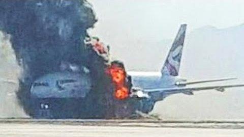 USA - Podczas kołowania na lotnisku w Las Vegas zapalił się silnik w samolocie pasażerskim linii British Airways -5