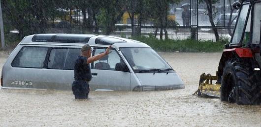 Ussurijsk, Rosja - Potężna nawałnica zalała miasto i zwierzęta w zoo -1