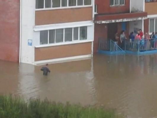 Ussurijsk, Rosja - Potężna nawałnica zalała miasto i zwierzęta w zoo -6