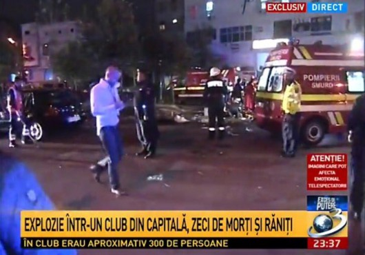 Bukareszt, Rumunia - Potężny wybuch w klubie nocnym
