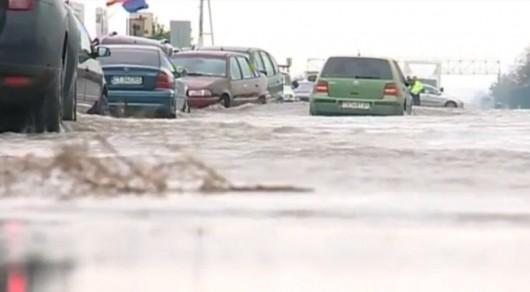 Corbu, Rumunia - Ulewne deszcze doprowadziły do powodzi -3