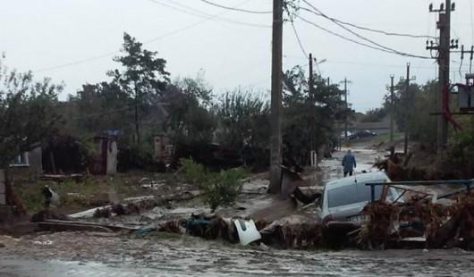 Corbu, Rumunia - Ulewne deszcze doprowadziły do powodzi -4