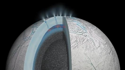 Enceladus, księżyc Saturna -2