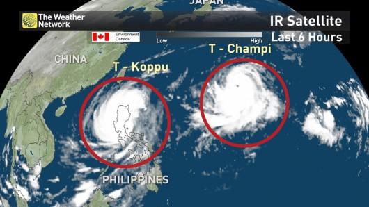 Filipiny - Prędkość wiatru tajfunu Koppu sięgała 210 km_h
