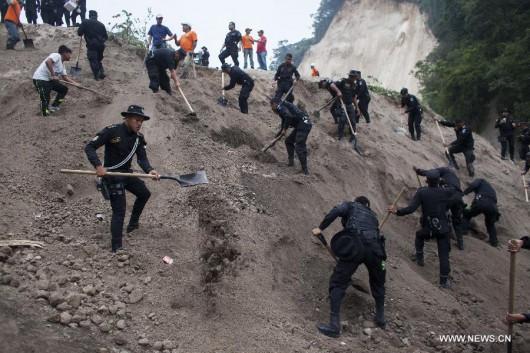 Gwatemala - Lawina błotna zabiła co najmniej 30 osób -2