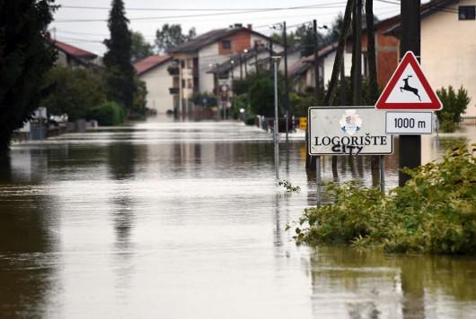 Karlovac, Chorwacja - Kolejna powódź w zaledwie tydzień -5