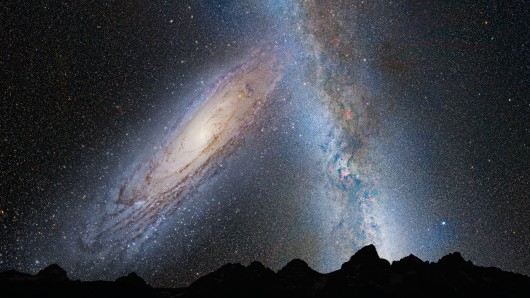 Kolizja Galaktyki Andromedy z naszą Drogą Mleczną