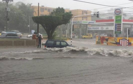 Kolumbia - Ulewne deszcze w Barranquilla -2