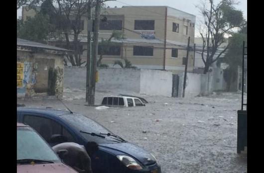 Kolumbia - Ulewne deszcze w Barranquilla -3