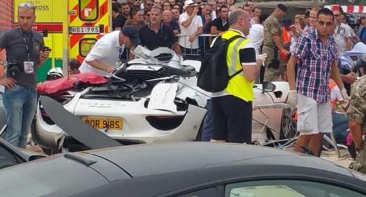 Malta - Porsche 918 Spyder wpadło w tłum ludzi w czasie pokazu charytatywnego -1