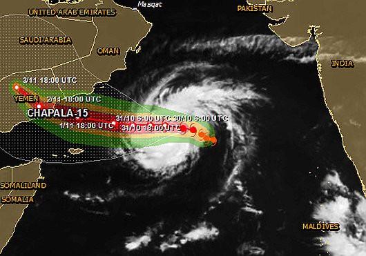 Morze Arabskie - Narodził się groźny huragan, który pierwszy raz od 70 lat uderzy w Jemen
