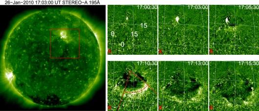 Odkryto nowy rodzaj wyrzutu słonecznego, zaobserwowano potężne fale, którym towarzyszą emisje bogate w hel-3