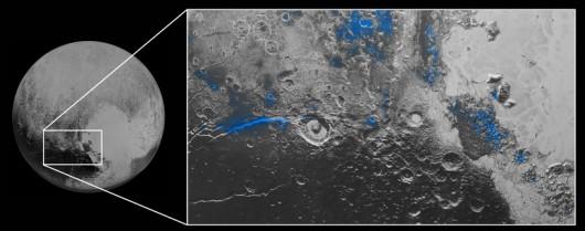 Rejony występowania wodnego lodu /NASA/JHUAPL/SWRI /materiały prasowe
