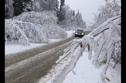 USA - Kolejna śnieżyca na Alasce