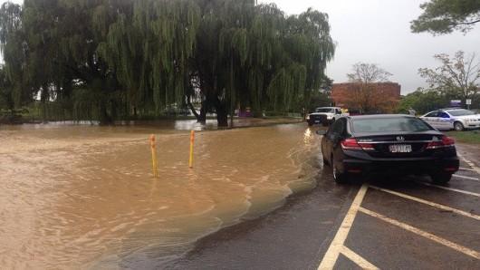 Flooding in Petersburg, West Virginia