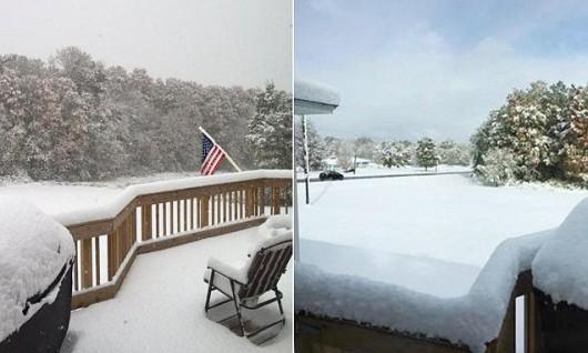 USA - Pierwszy śnieg w stanie Nowy Jork -2