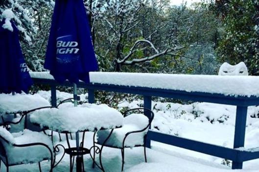 USA - Pierwszy śnieg w stanie Nowy Jork -3