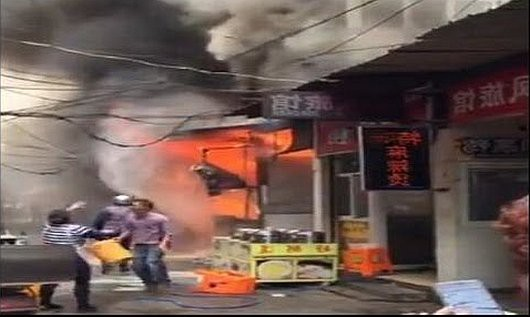 Wuhu, Chiny - Eksplozja butli z gazem zabiła co najmniej 17 osób w restauracji