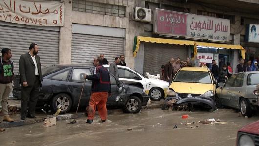 Amman, Jordania - Ulice stolicy kraju zamieniły się w rzeki -4