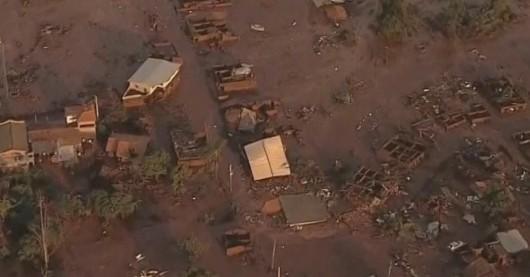 Bento Rodrigues, Brazylia - Puściła zapora górnicza i toksyczne odpady wraz z błotem zalały miasto -2