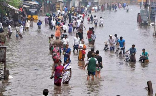 Chennai, Indie - W ciągu doby spadło 970 lmkw deszczu -2