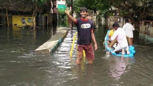 Chennai, Indie - W ciągu doby spadło 970 lmkw deszczu -3