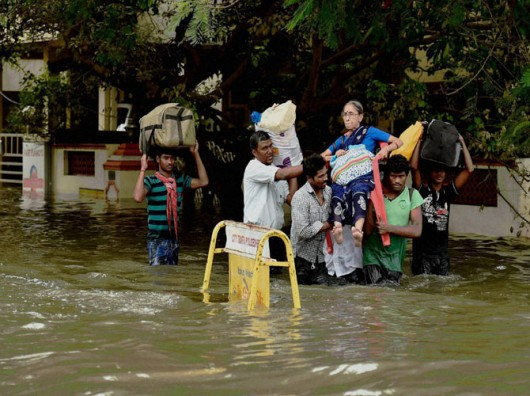 Chennai, Indie - W ciągu doby spadło 970 lmkw deszczu -4