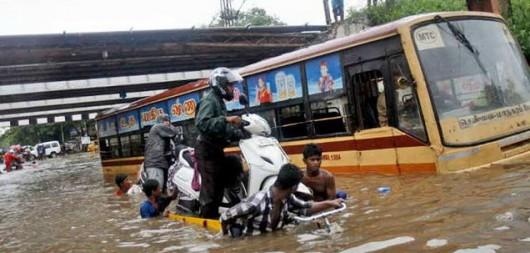 Chennai, Indie - W ciągu doby spadło 970 lmkw deszczu -6