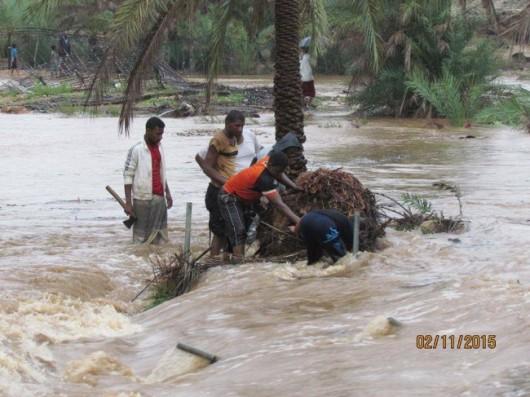 Jemen - Cyklon Chapala przyniósł tyle opadów deszczu, ile normalnie pada w ciągu 10 lat -14