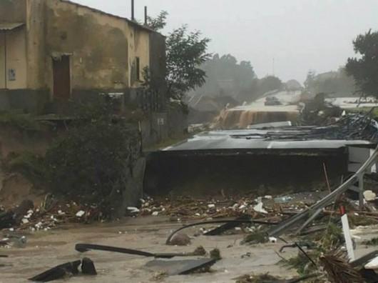 Kalabria, Włochy - Ulewne deszcze -3
