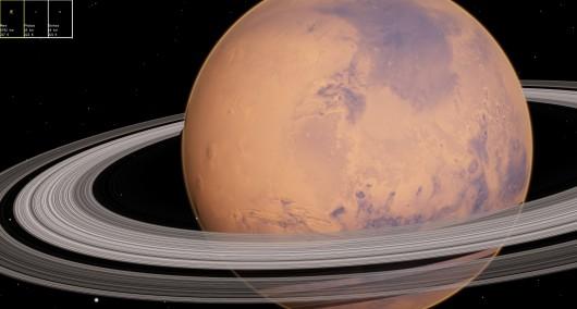 Mars i pierścienie - Zdjęcie ilustracyjne