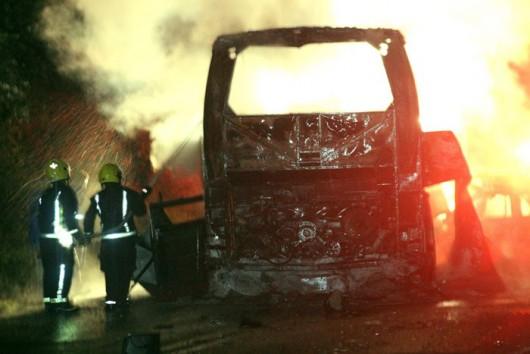 Meksyk - Zapalił się autobus po wypadku z samochodem osobowym, spaliły się 24 osoby, głównie studenci -1