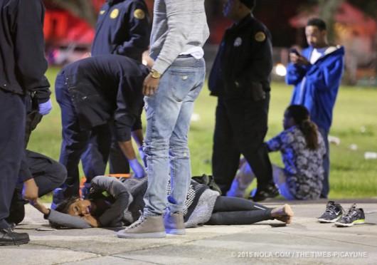 Nowy Orlean, USA - W parku rozrywki napastnicy zaczęli strzelać do ludzi, 16 osób rannych -3