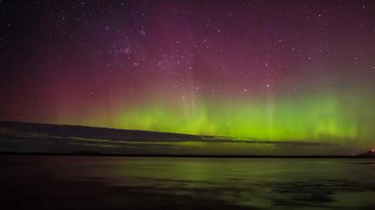 Piękna zorza polarna była widoczna w Tasmanii