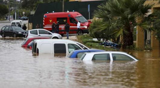 Portugalia - Ulewne deszcze i silny wiatr w prowincji Algarve -2