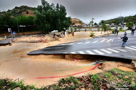 Portugalia - Ulewne deszcze i silny wiatr w prowincji Algarve -4