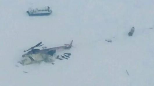 Rosja - Helikopter rozbił się na Syberii, 15 ofiar