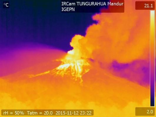 Tungurahua - obraz termalny