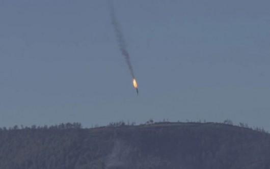 Turcy zestrzelili rosyjski samolot Su-24, który naruszył ich przestrzeń powietrzną -1