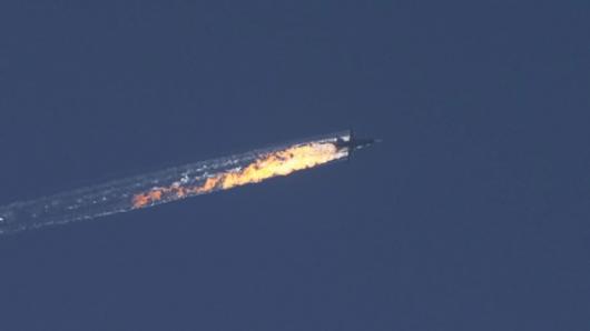 Turcy zestrzelili rosyjski samolot Su-24, który naruszył ich przestrzeń powietrzną -2