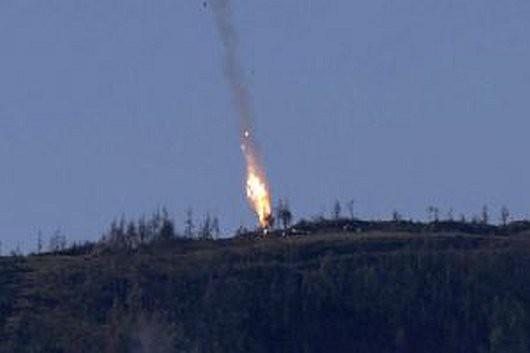 Turcy zestrzelili rosyjski samolot Su-24, który naruszył ich przestrzeń powietrzną -4
