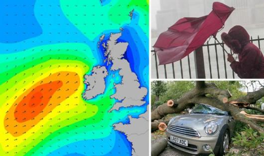 UK - Cyklon Abigail dotarł na Wyspy -2