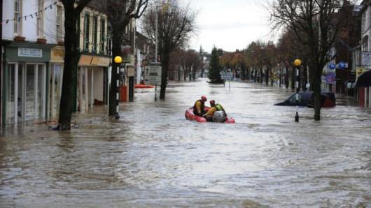 W północnej Anglii gwałtownie podniósł się poziom rzek po cyklonie Abigail -3